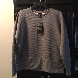 Gray Nike Just Do It Dry Fit Medium Sweatshirt NEW